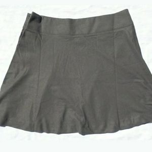 NWT LAND'S END 16 XL Skirt Grey A-line flare